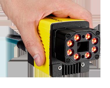 hand holding a Cognex Dataman 470