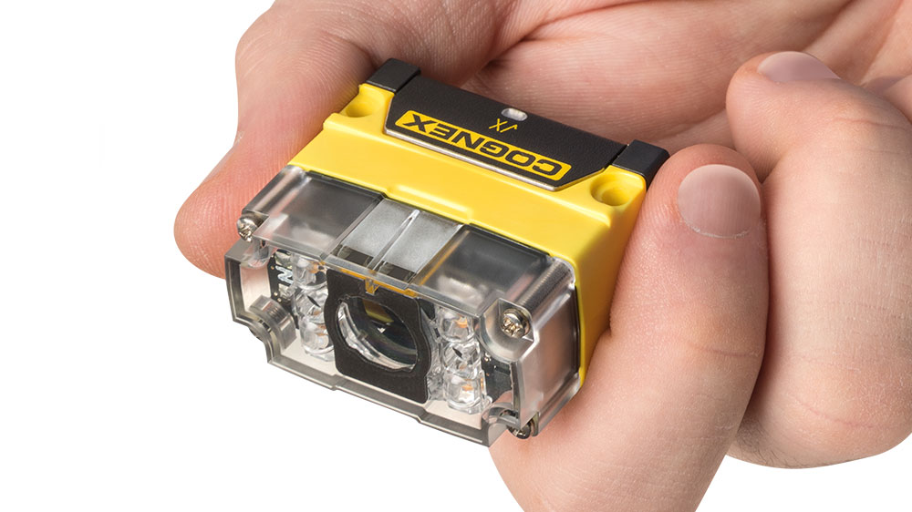 Dataman 70 held by male hand