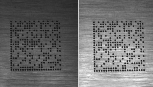 High dynamic range imaging comparison of a 2d barcode