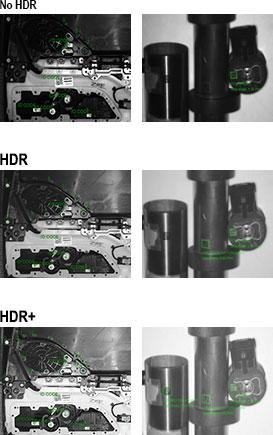 HDR Plus para la inspección de piezas