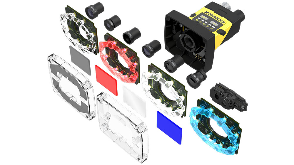 Cognex Insight 2000 modular interchangeable parts in expanded view