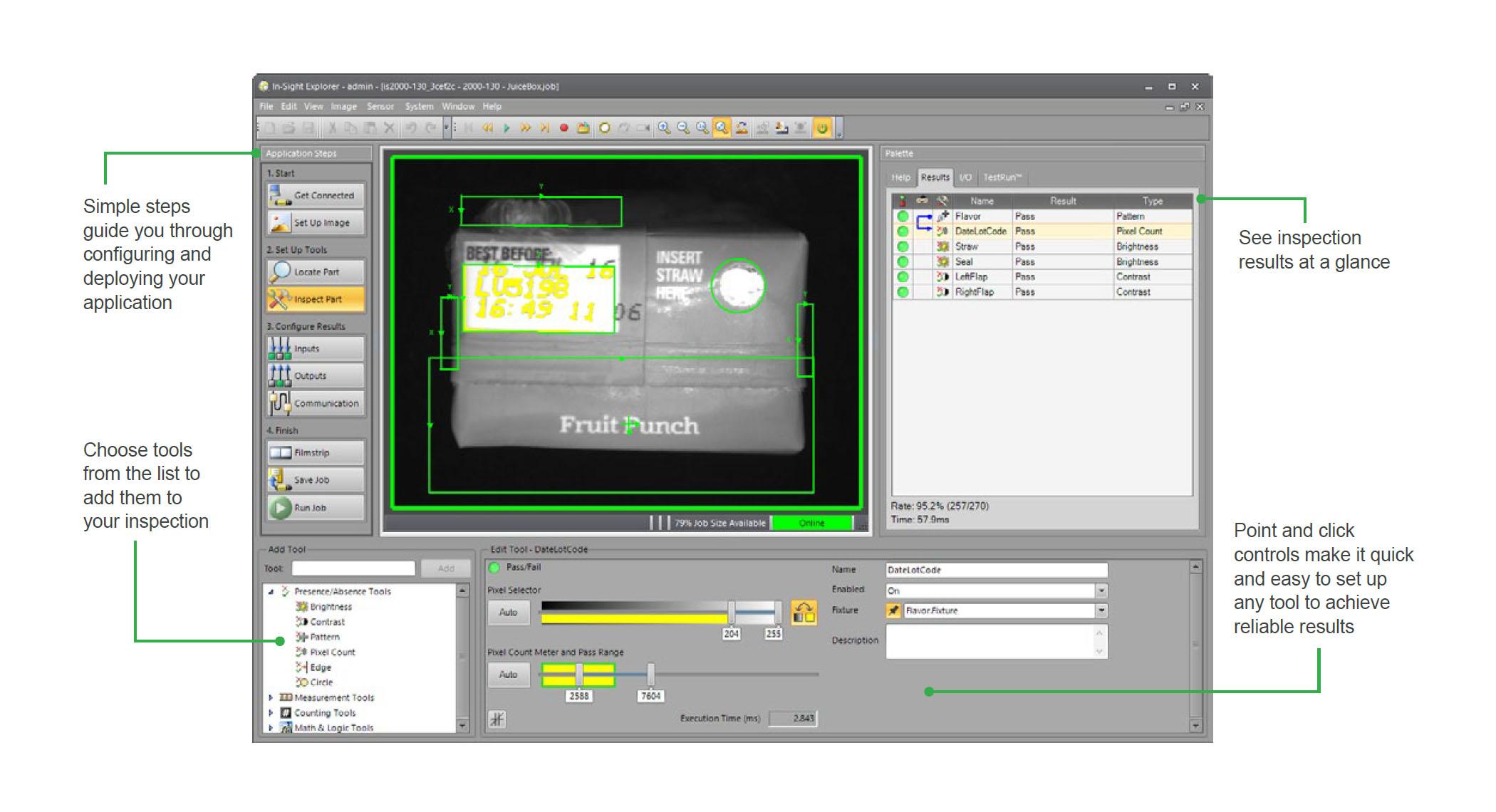 In-Sight 2000 Vision Sensors - Software & Tools | Cognex