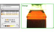 Color tools identifying orange liquid