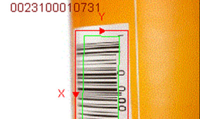 ID tool reads vertical 1d barcode