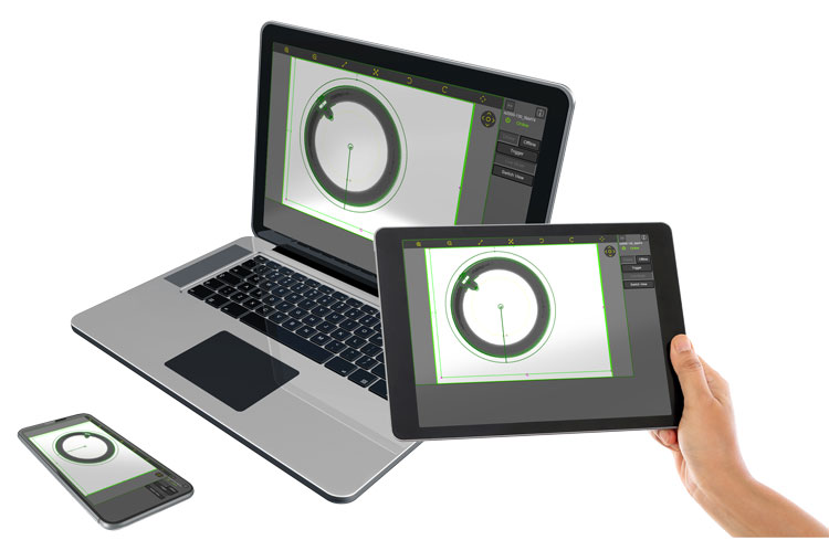 In-Sight WebHMI on phone computer and tablet