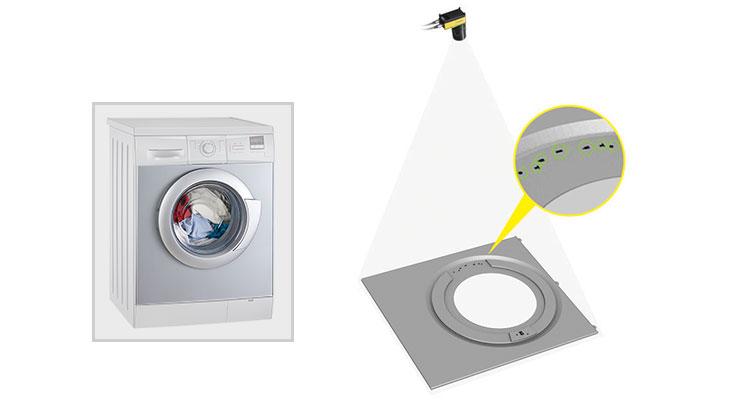 Area scan washing machine inspection
