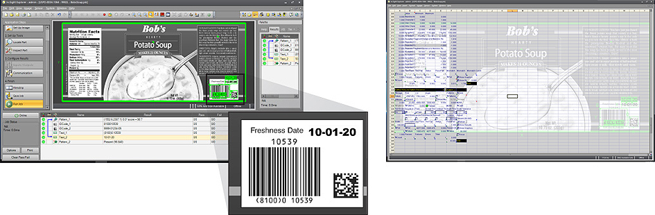 IS9902L Software with example can label and 1d barcode in spreadsheet