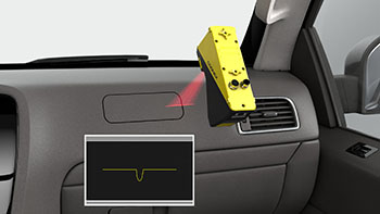 Airbag compartment cover gap measurement