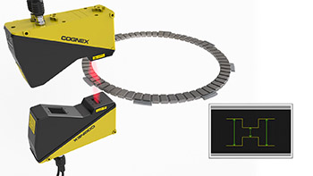 Clutch plate inspection using two 3d laser profilers