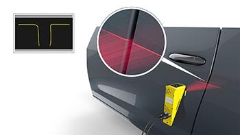 car door flush and gap measurement using laser line
