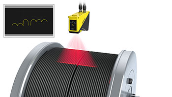 DS1000 fiber cable winding inspection
