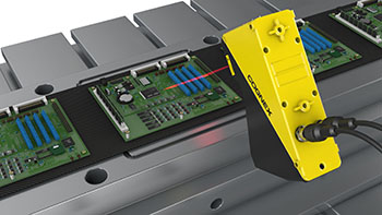 PCB circuit board terminal height measurement with laser