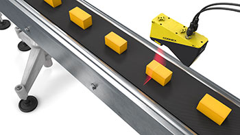 Food portioning blocks of cheese verification through size inspection on conveyor