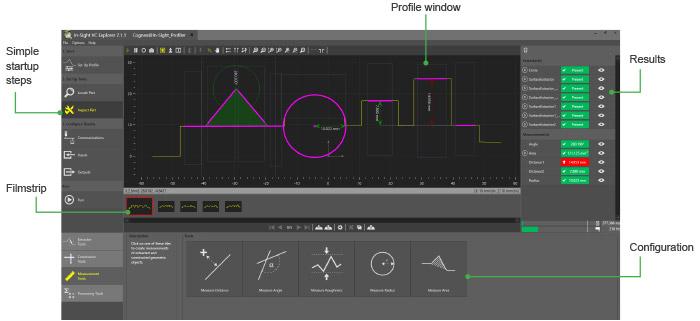 In-Sight Laser Profiler Easybuilder software section guide