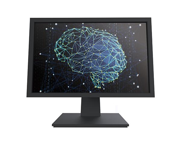 Deep Learning blue brain on monitor