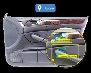 ViDi Blue-Locate Tool card door panel