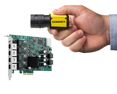 small held cognex camera and i/o board