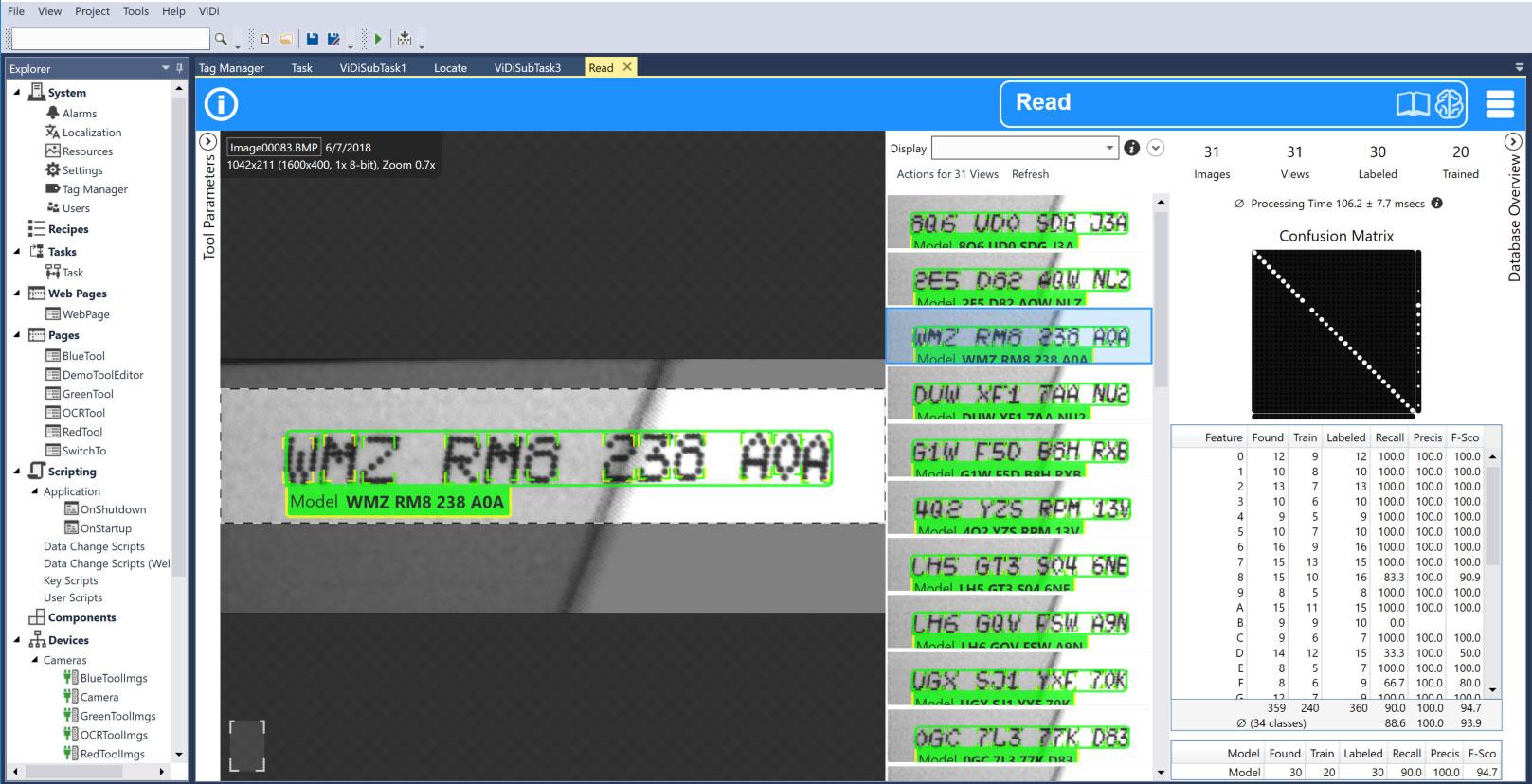Blue-Read tool OCR software screenshot