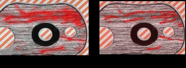 Red Analyze 툴에서 포커스 모드와 하이 디테일 모드 비교