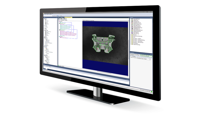 Cognex Designer Software preview on monitor