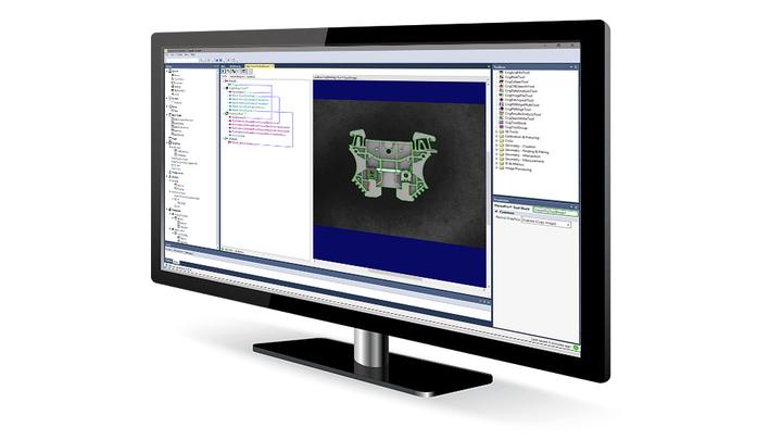 Cognex Designer Software preview on monitor