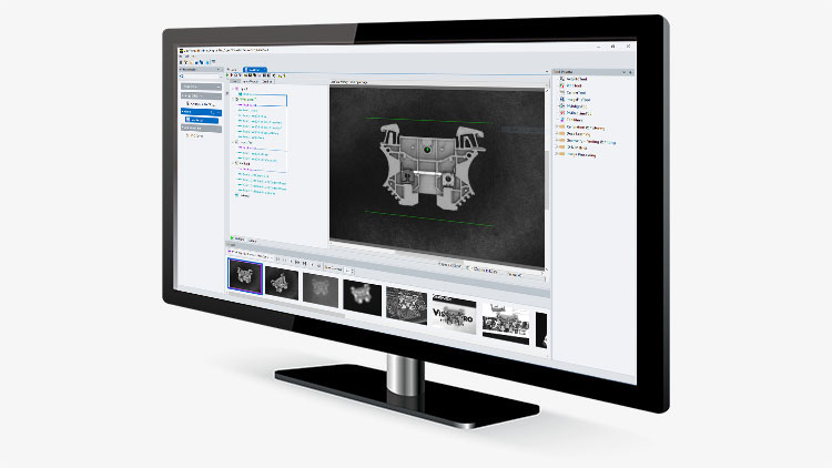 Cognex VisionPro PC-based vision software on monitor