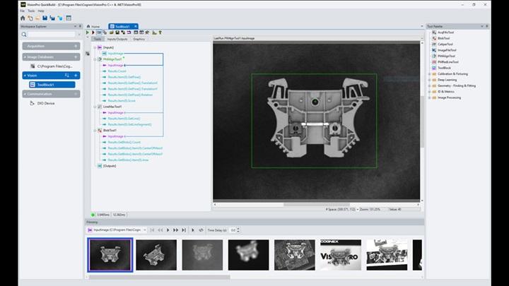 Cognex VisionPro PC-based vision software screen shot