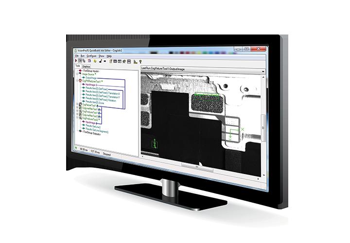 VisionPro software on angled monitor