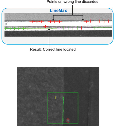 LineMax edge detection tool