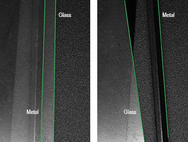 Smart Line line detection on metal and glass