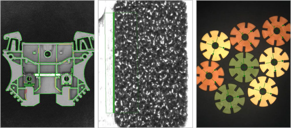 Machine vision tools for pattern matching, identification, and edge detection and inspection