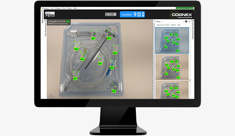 VisionPro Blue Locate finding all components in kit