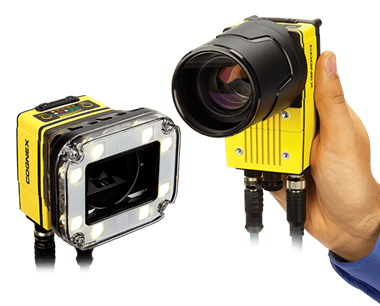 2D Machine Vision Systems Insight 7000 and hand holding In-Sight 9000