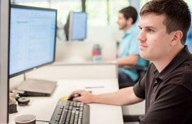 man at computer attending On Demand Training