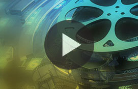 Video film reel with play button