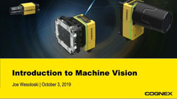 Cognex products introduction to machine vision webinar powerpoint title slide