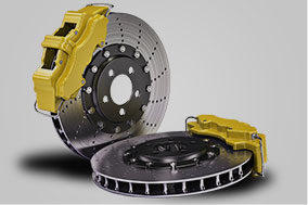 vehicle safety system brake pads and rotors