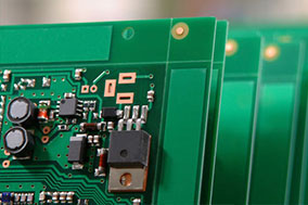 up close circuit board components