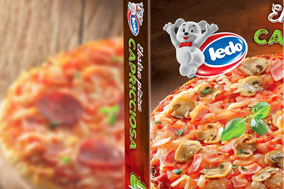 pre-packaged frozen food pizza and box toppings do not match fail reject