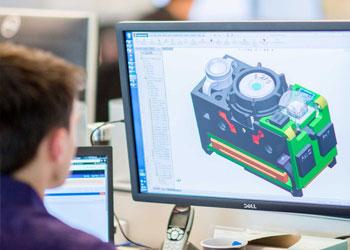 Cognex software engineer designing AE2 Cognex industrial camera
