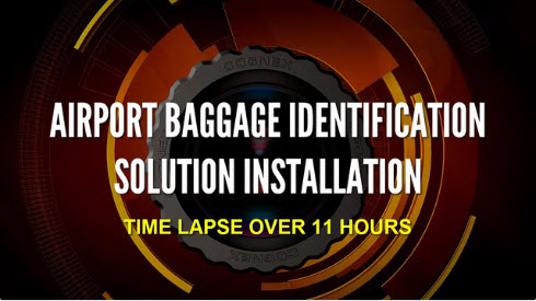 Cognex Airport Baggage Identification Solution Installation