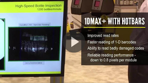 DataMan 262X Reading 1-D Barcodes at High Speed