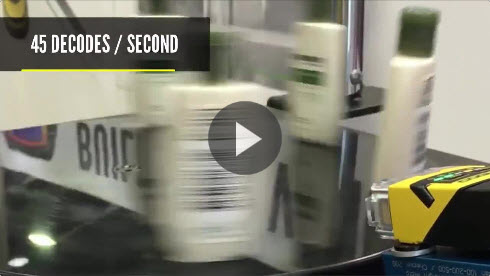 DataMan 262X Reading 2-D Labels at High Speed
