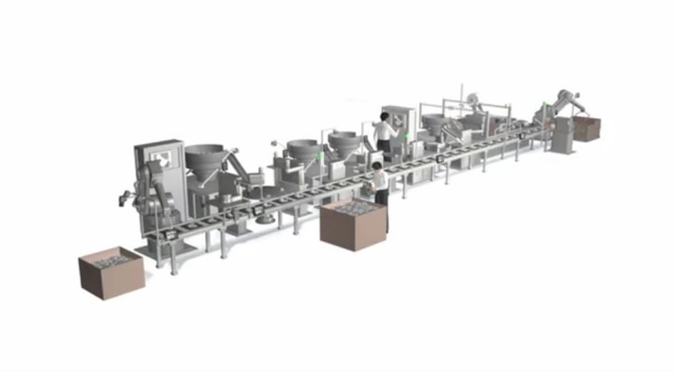 Machine Vision and Barcode Reading - Production Line