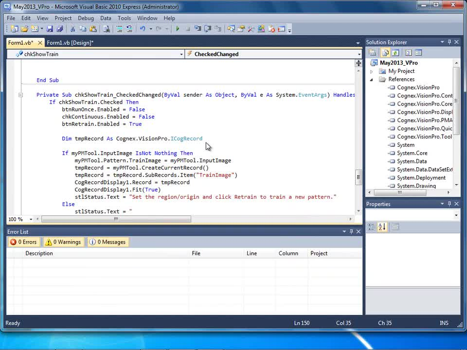 VisionPro - Programming - Part 5