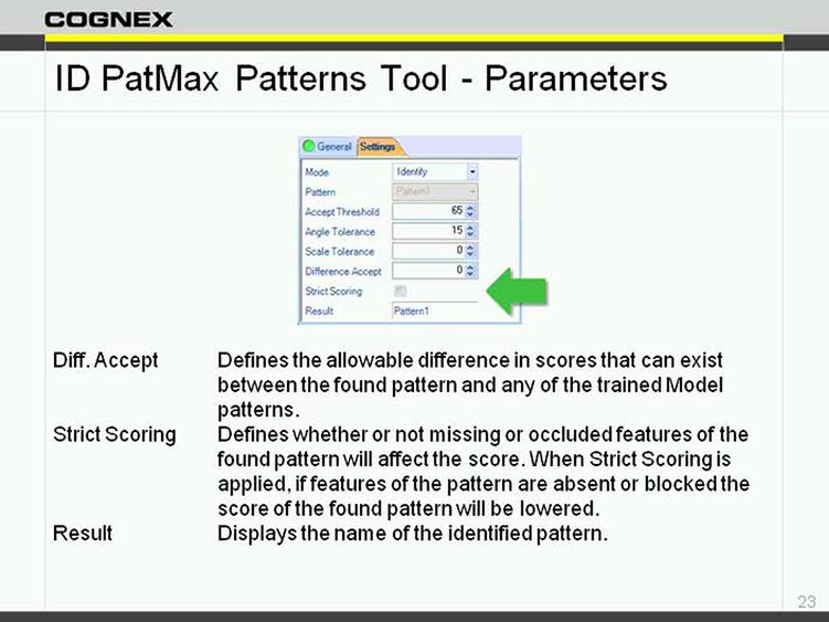 In-Sight EasyBuilder - Identification Tools