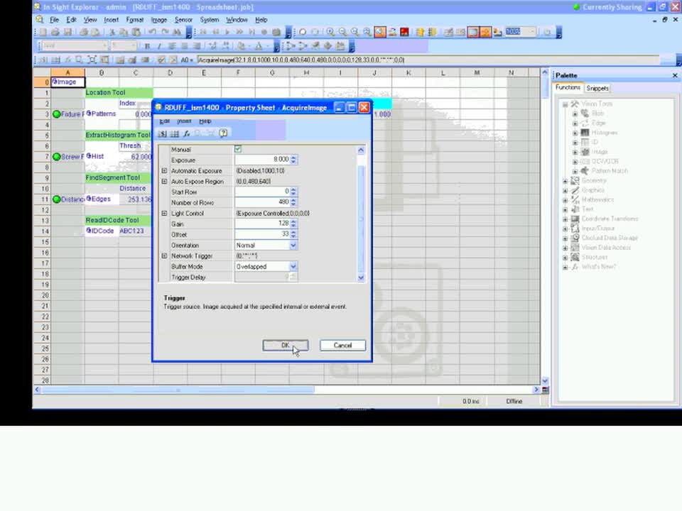 In-Sight EasyBuilder - Introduction to Spreadsheets
