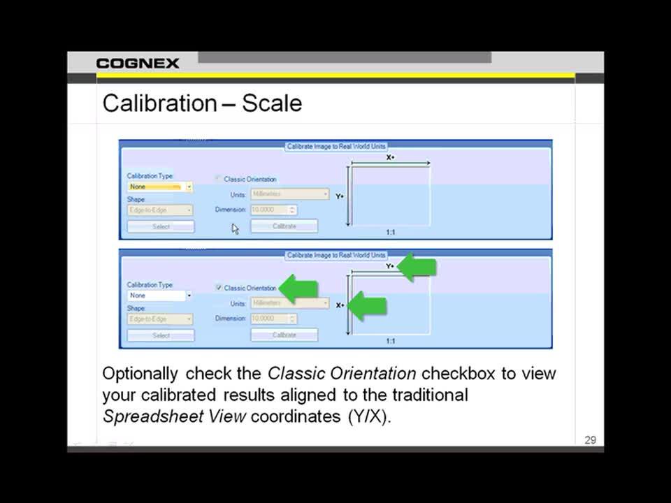 InSight EasyBuilder  Image Software  Calibration
