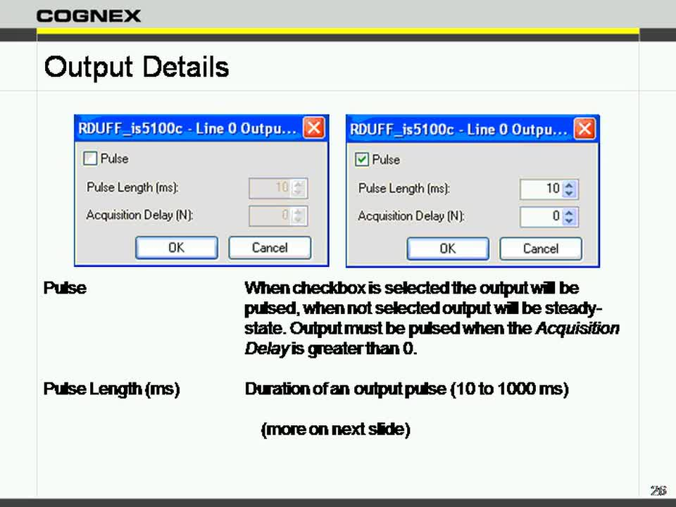 InSight EasyBuilder  Inputs  Outputs
