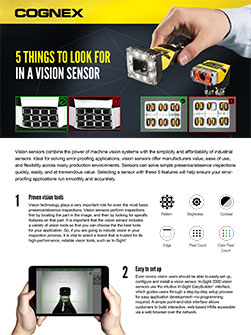 5 Things to Look for in a Vision Sensor